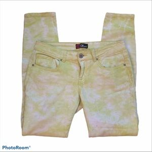 Bebe light green washed out bleached  jeans